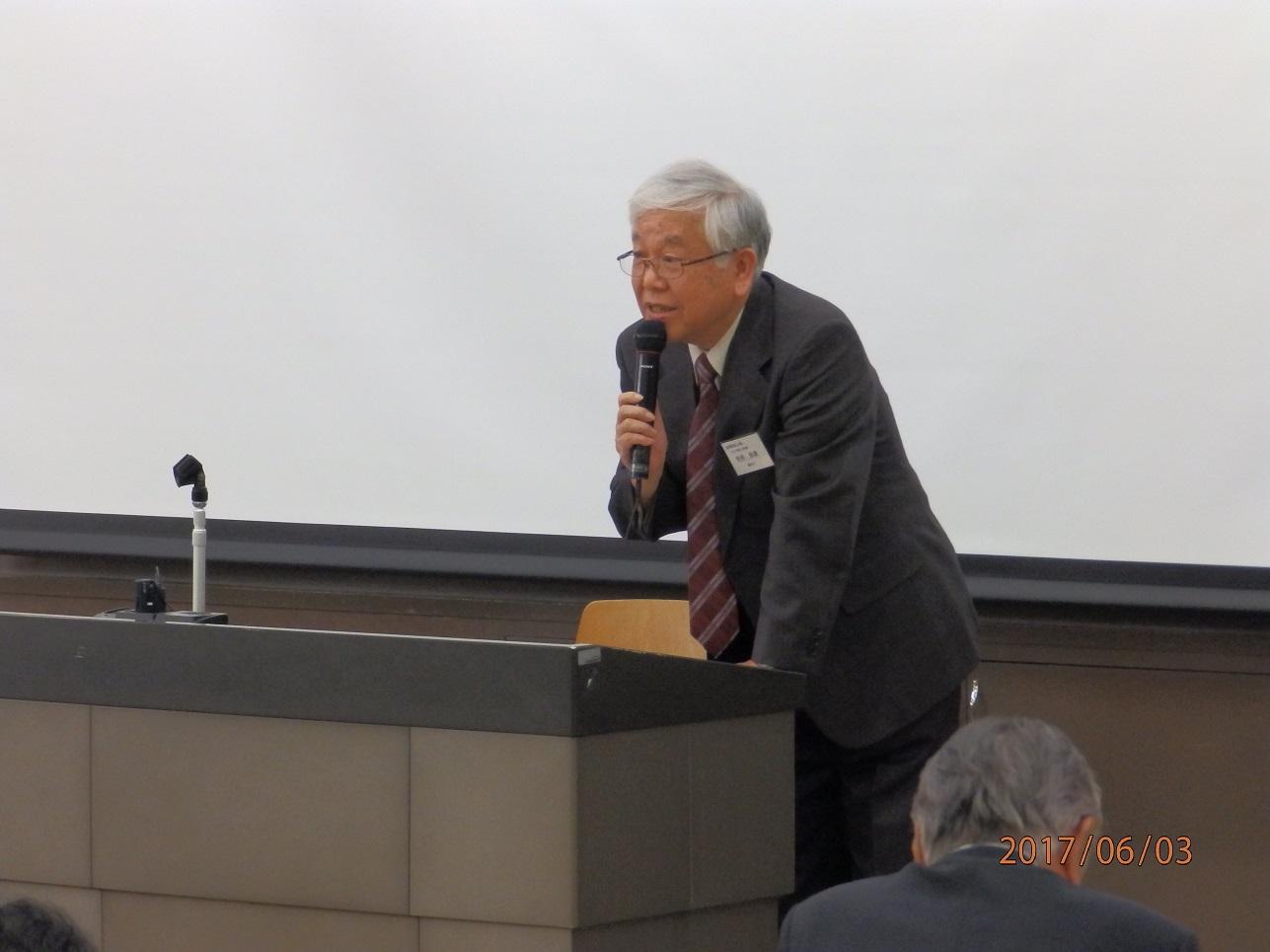 杉田新理事長挨拶